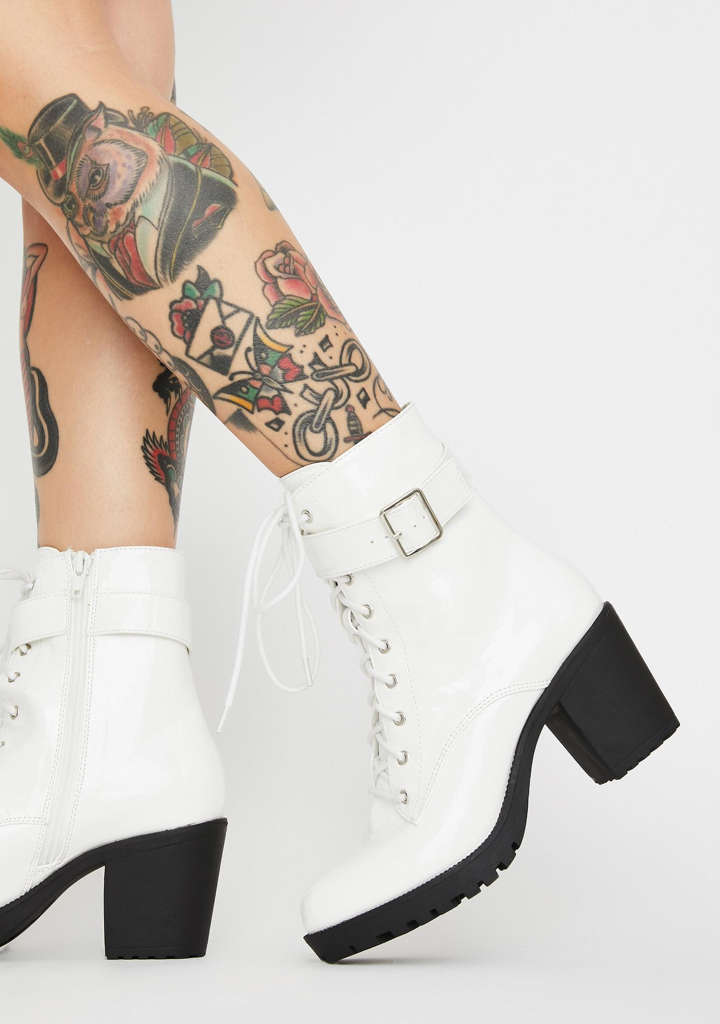 Arctic Yas Hunty Patent Boots