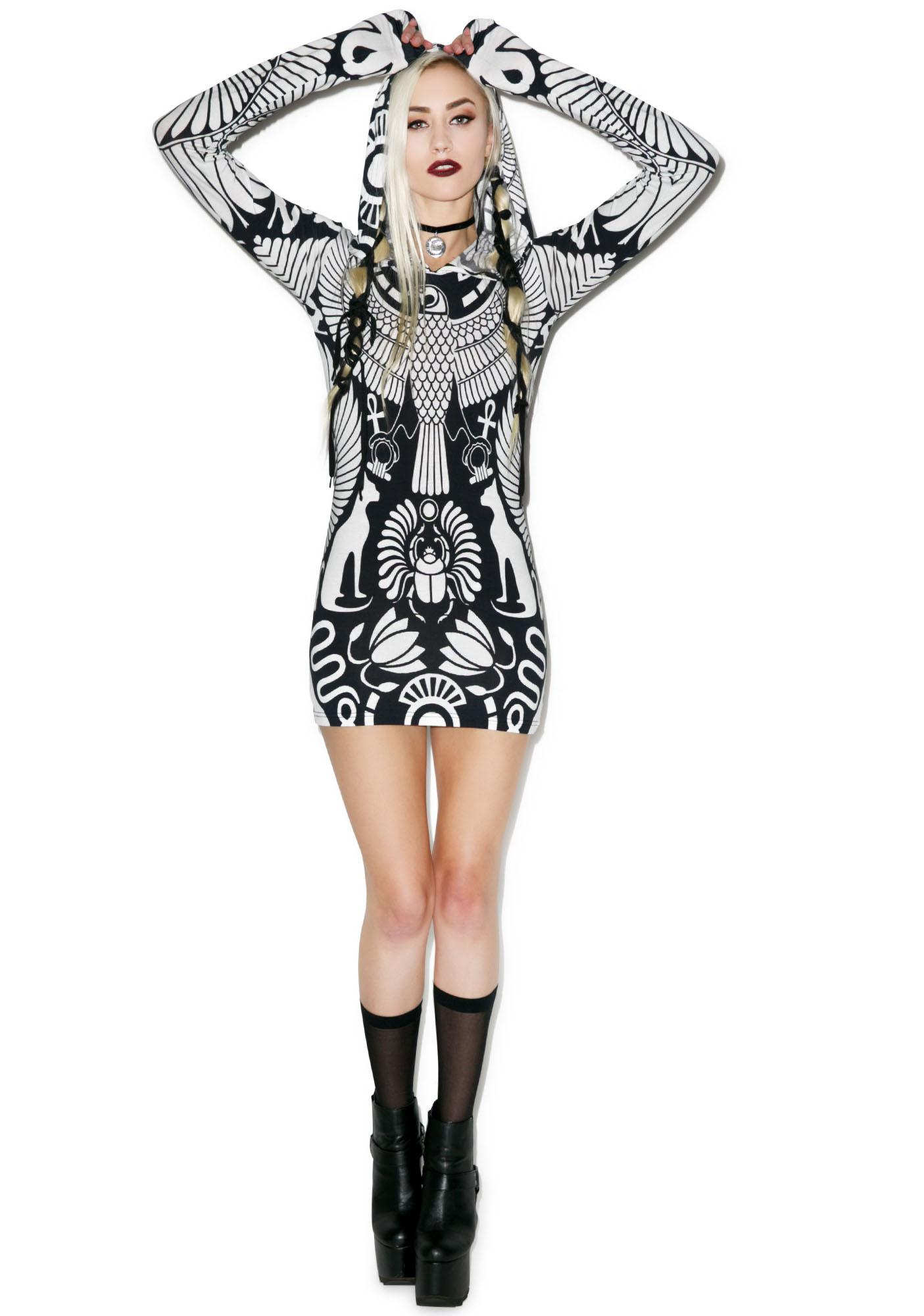Killstar Vulture Hood Dress