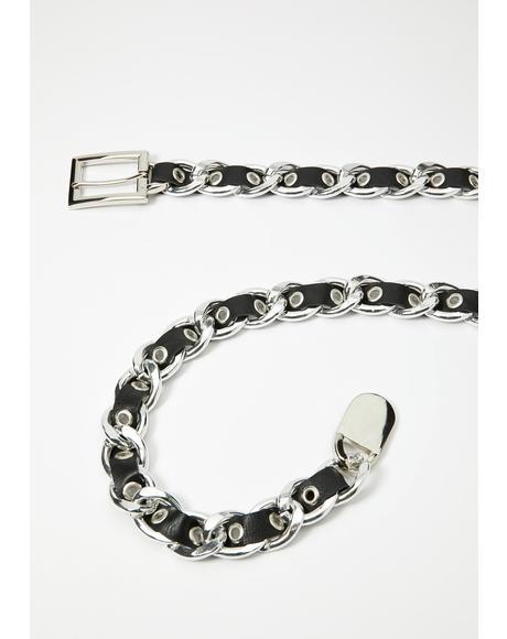 Chome Deluxe Diva Woven Belt