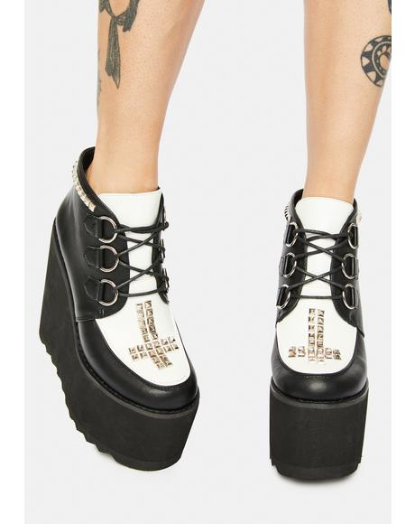 Such A Cruel World Platform Ankle Boots