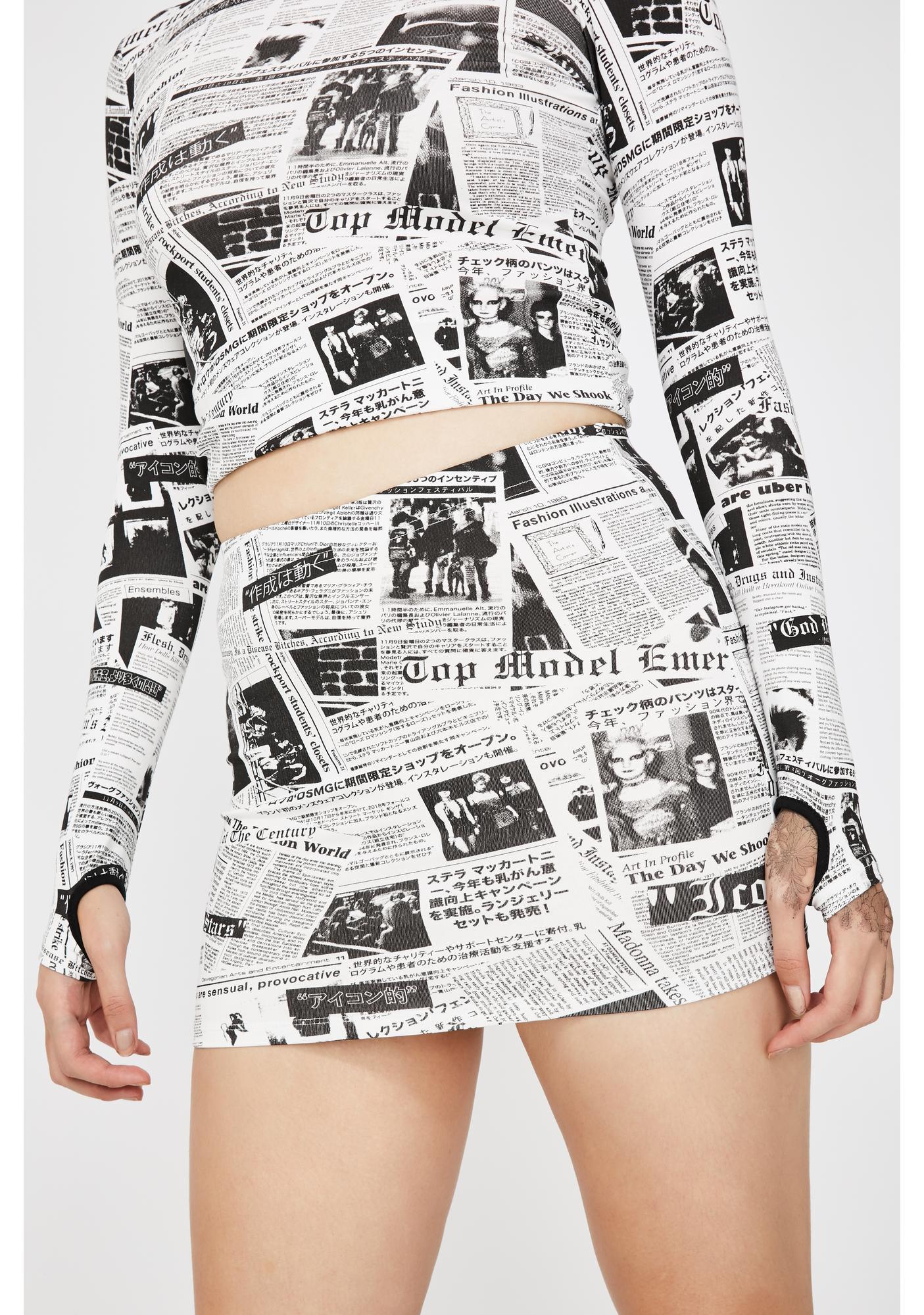 Current Mood Headline Honey Mini Skirt