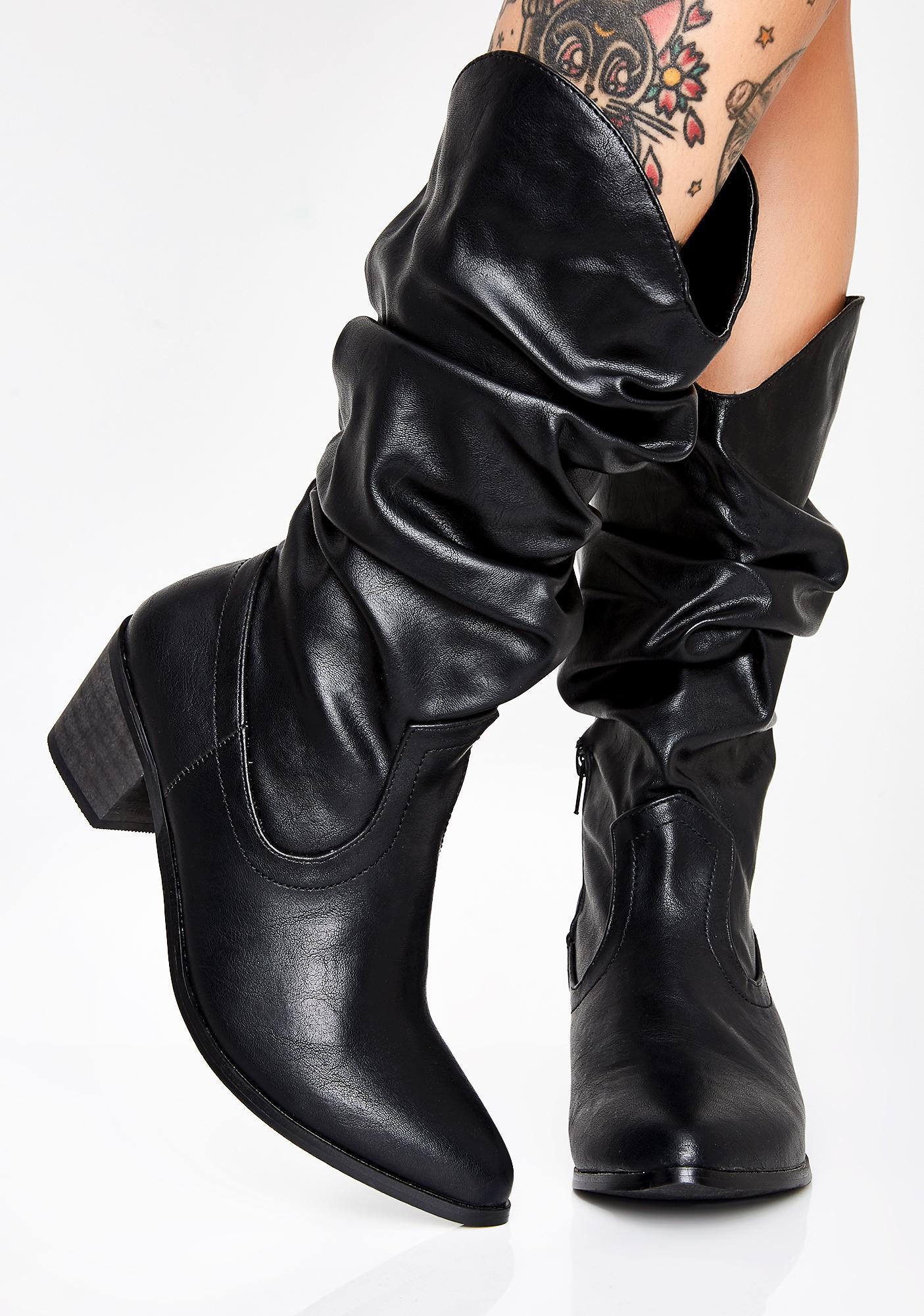 308d744a26e Onyx Nite Rider Cowboy Boots