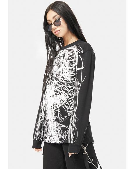 Nervous Long Sleeve Graphic Tee