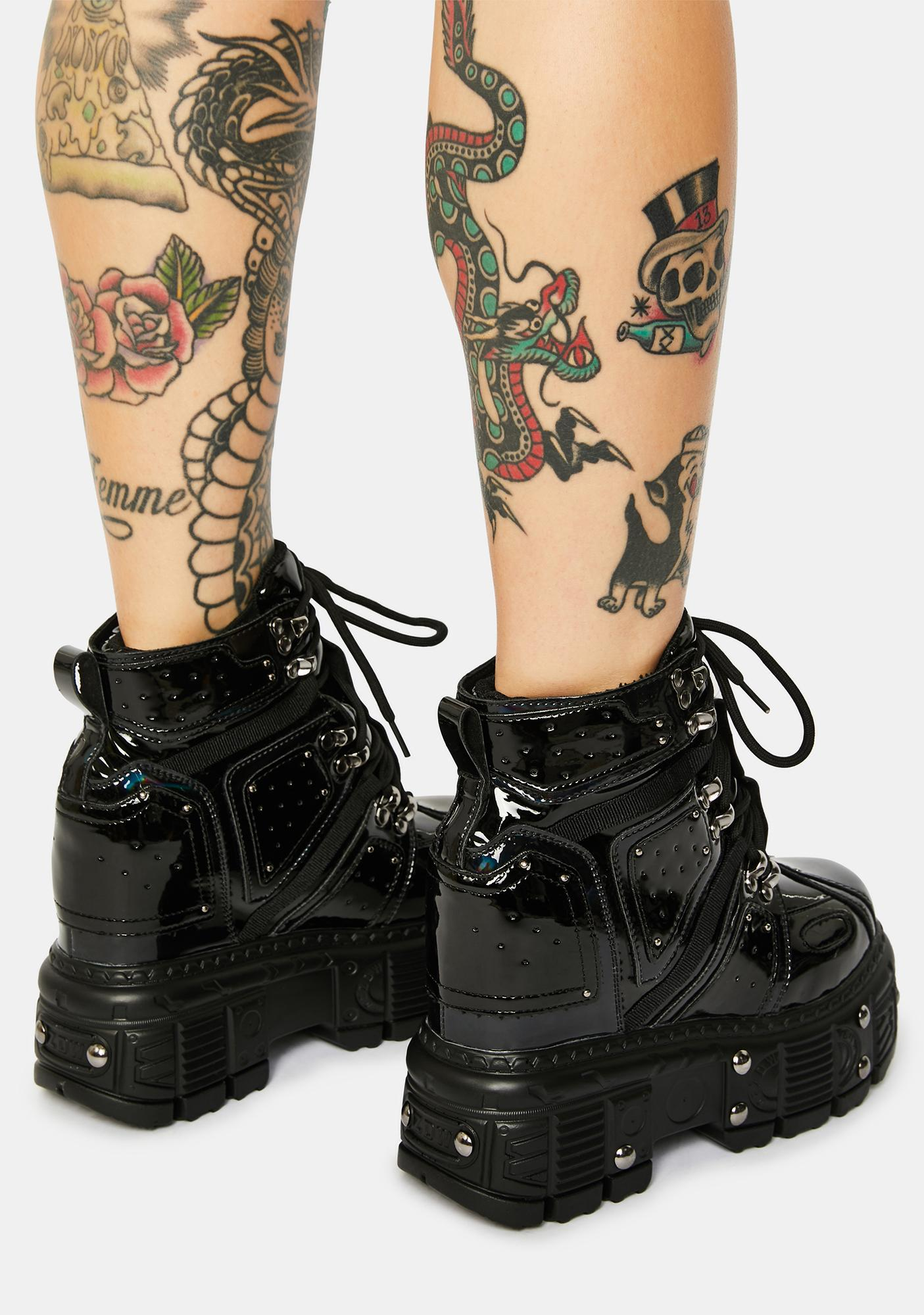 Anthony Wang Black Patent Mangosteen Sneakers