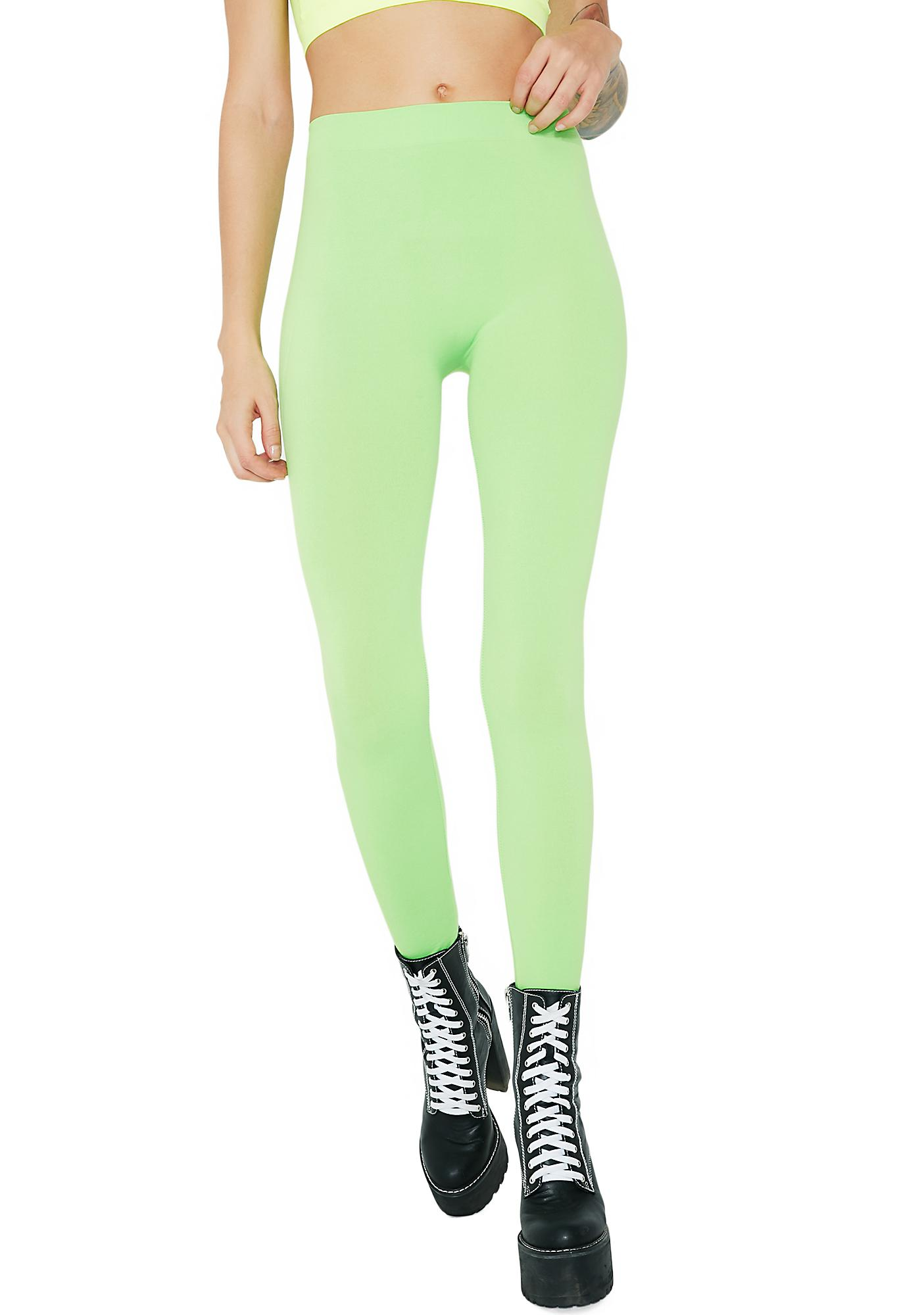 0f7724b0d2789 Neon Lime Leggings | Dolls Kill