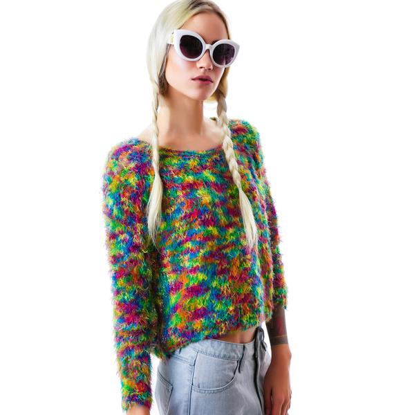 Mink Pink Set The World on Fire Knit Sweater