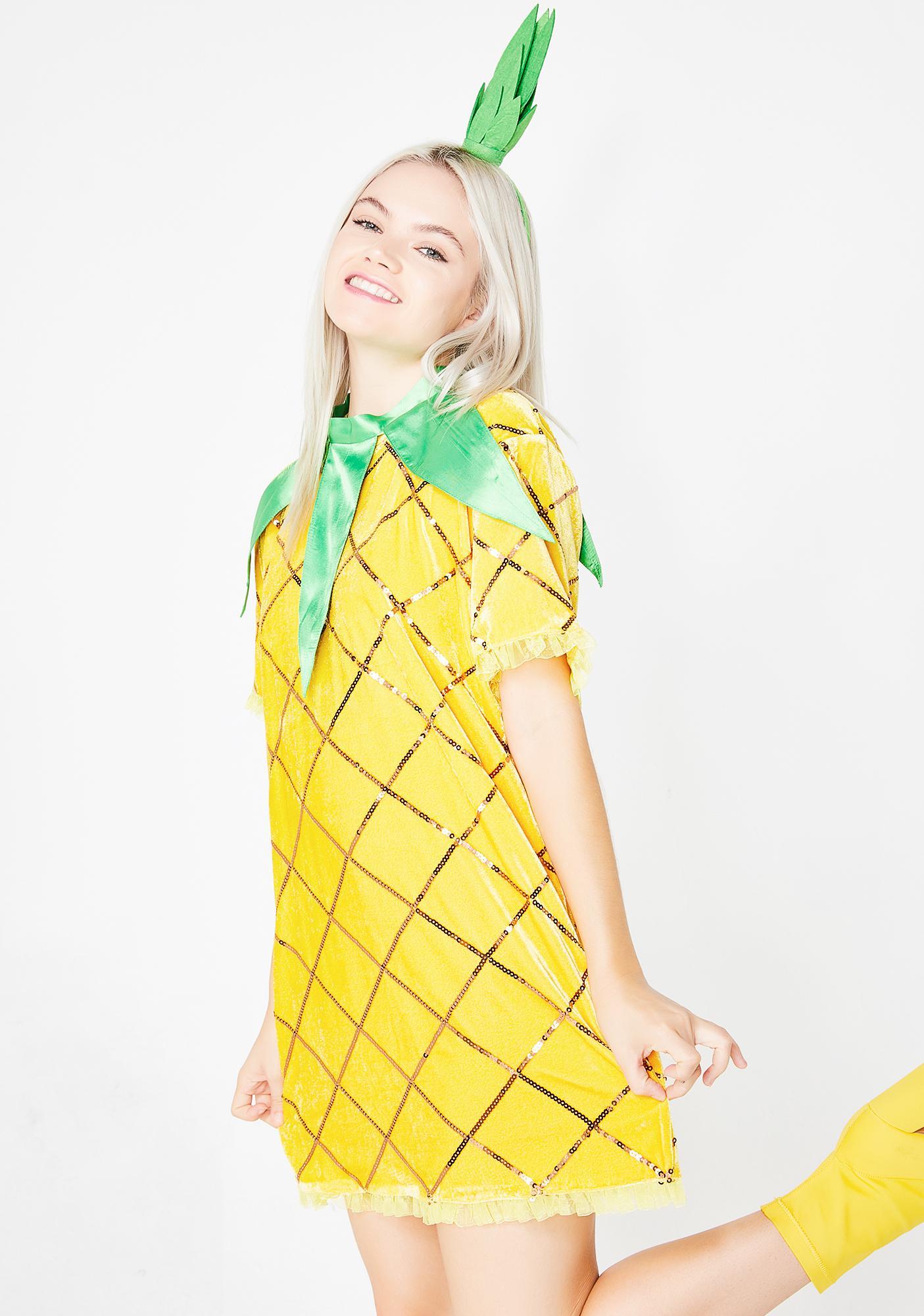 Trickz & Treatz Lil Miss Fine-Apple Costume