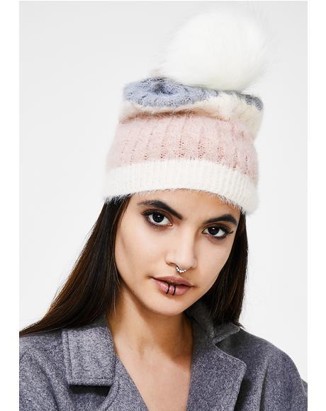 Snow Bunny Pom Beanie