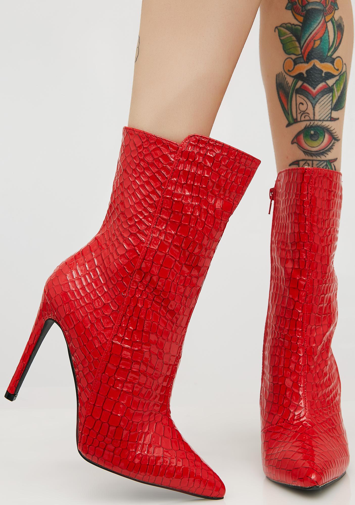 sale online Public Desire Public Desire Spike Mesh Stiletto Heel Ankle Boots Red clearance shopping online top quality online cheap buy authentic hot sale cheap online Dzj1fXNTl