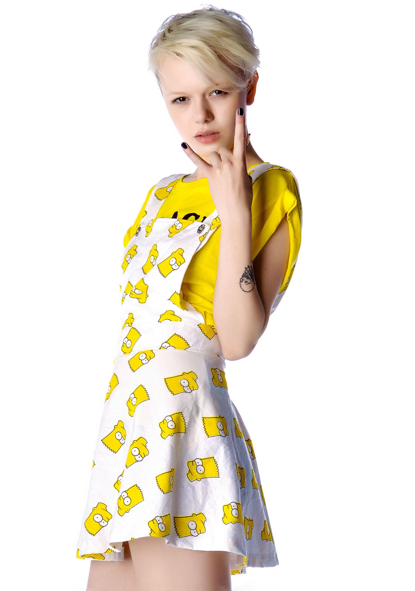 O Mighty Bart Pinafore Dress