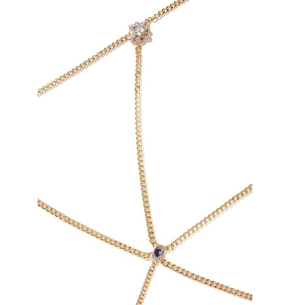 Spotlight Rhinestone Body Chain