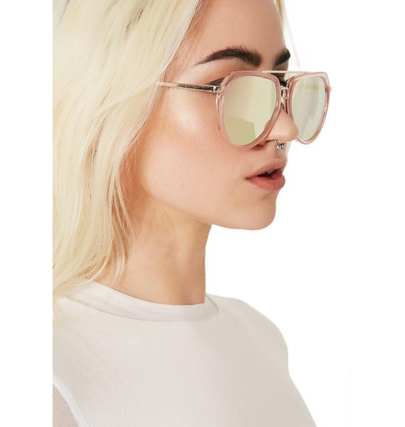 Master Pink Mirrored Sunglasses