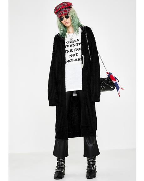 Mega Antisocial Climber Safety Pin Cardigan