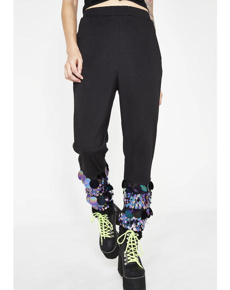 Dark Walkin' On Sunshine Sequin Joggers