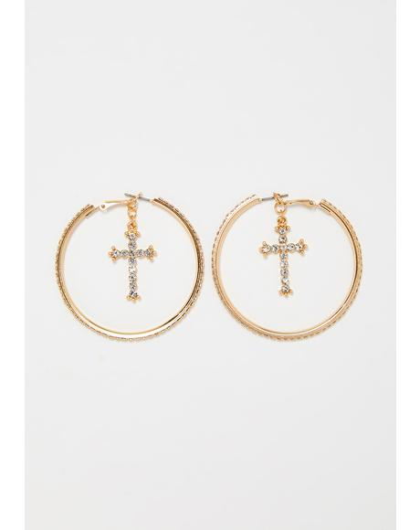 Diamond Disciple Hoop Earrings
