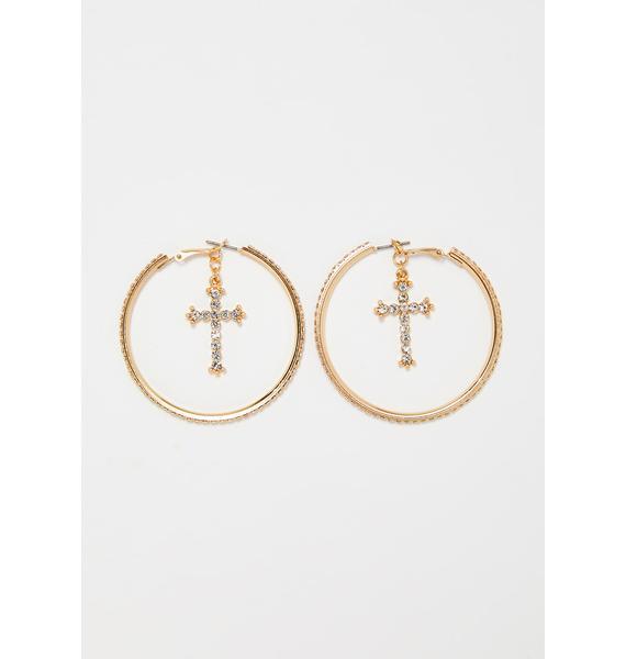 Diamond Disciple Hoop Earrings