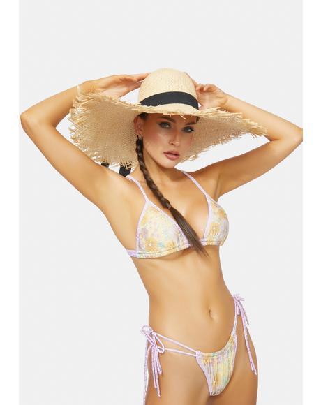 Beach Vibin' Straw Sun Hat