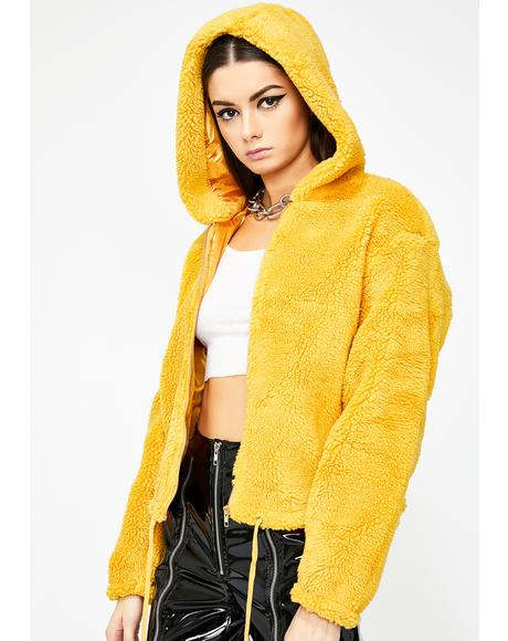 Honey The Finer Thingz Fuzzy Jacket