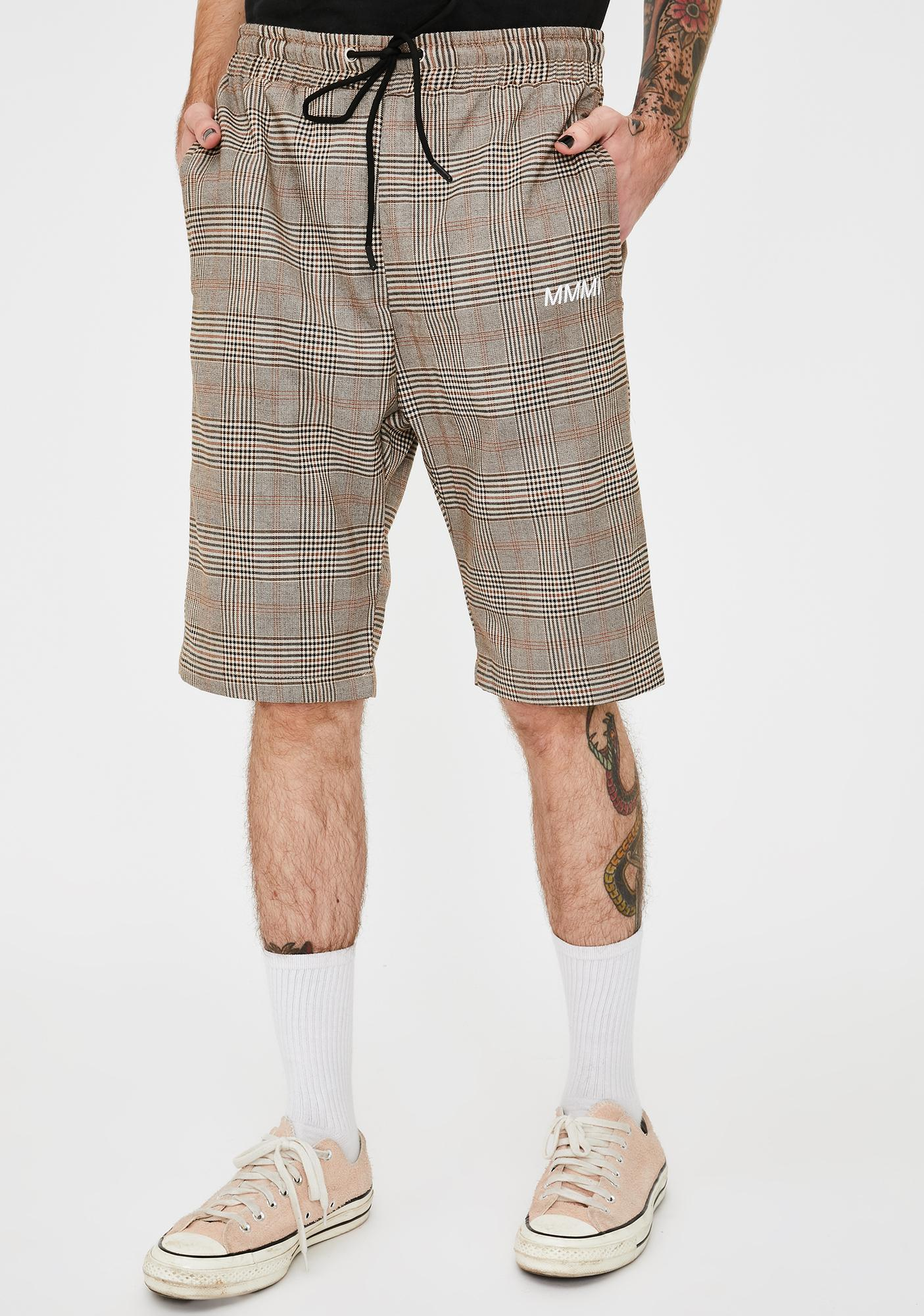 My Mum Made It Mens Plaid Drawstring Shorts