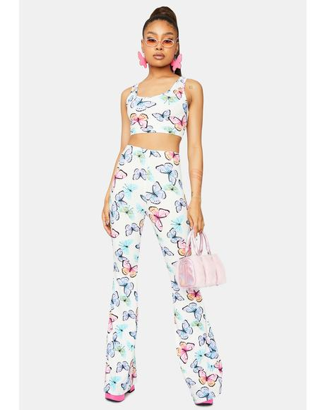 Magical Metamorphosis Butterfly Print Pants Set