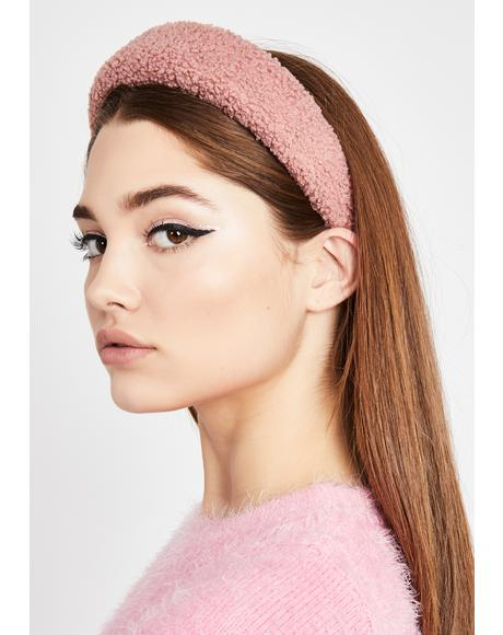 Rose Soft Intentions Sherpa Headband