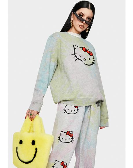 Hello Kitty Tie Dye Sweatshirt