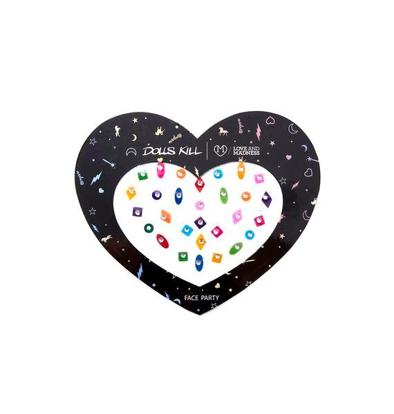 Love And Madness Gem Felt Face Stickers