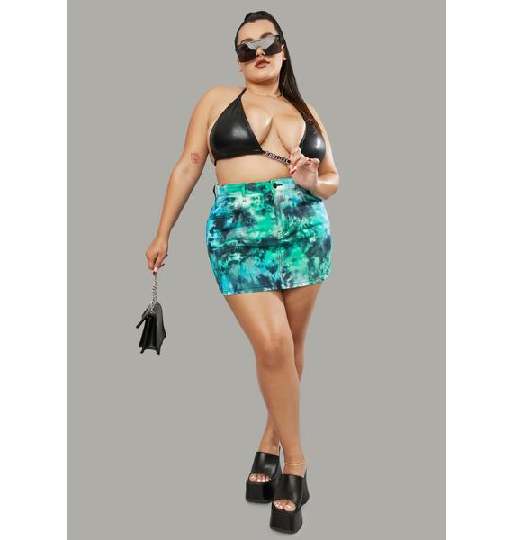 Poster Grl Miss Treasure Island Tie Dye Mini Skirt