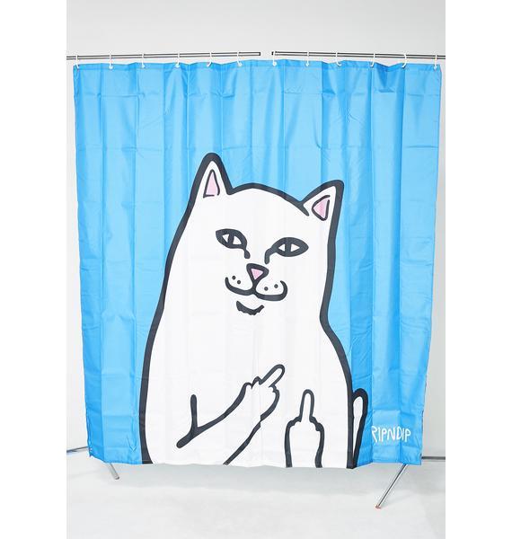 RIPNDIP Lord Nermal Shower Curtain
