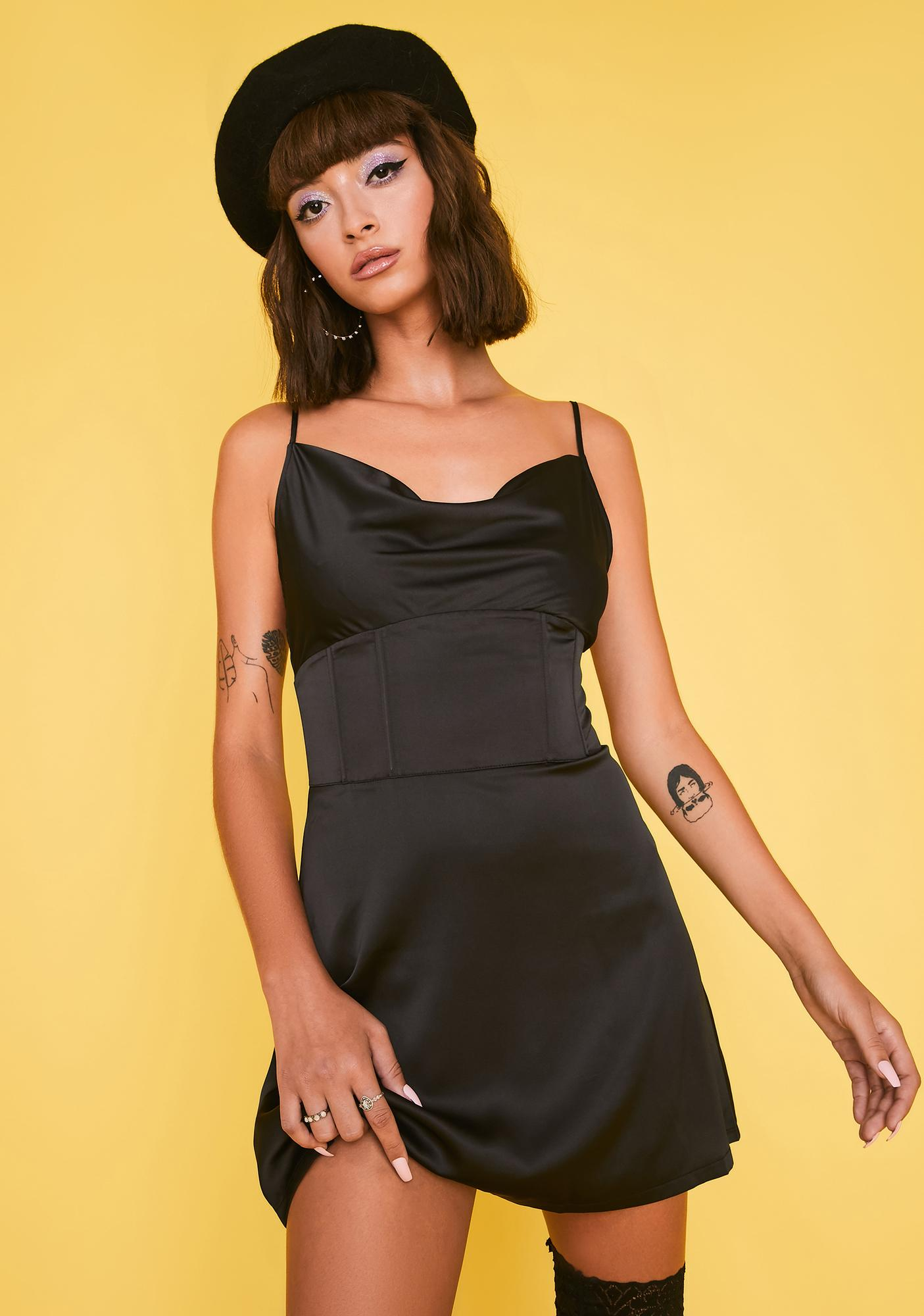 HOROSCOPEZ Anything But Basic Corset Dress