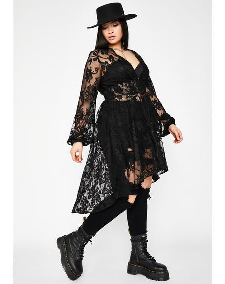 Forever Hexin' My Ex Lace Duster