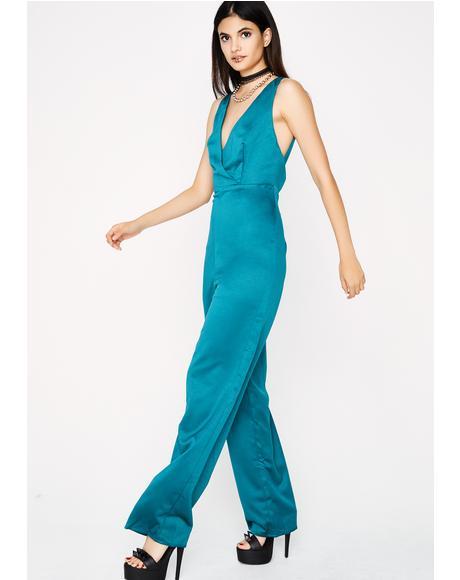 Tiffany Satin Jumpsuit