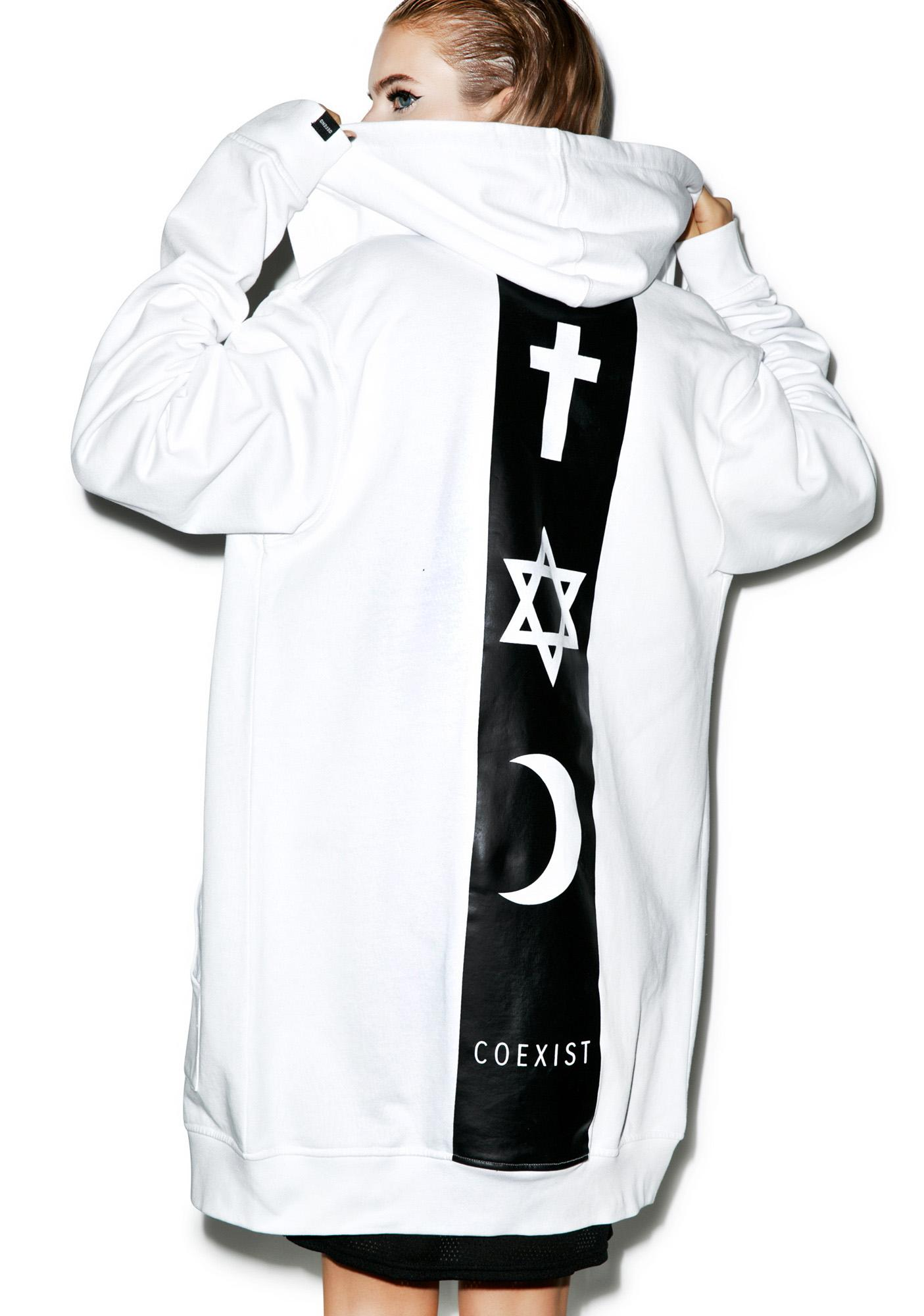 Defend Paris Coexist Long Hoodie