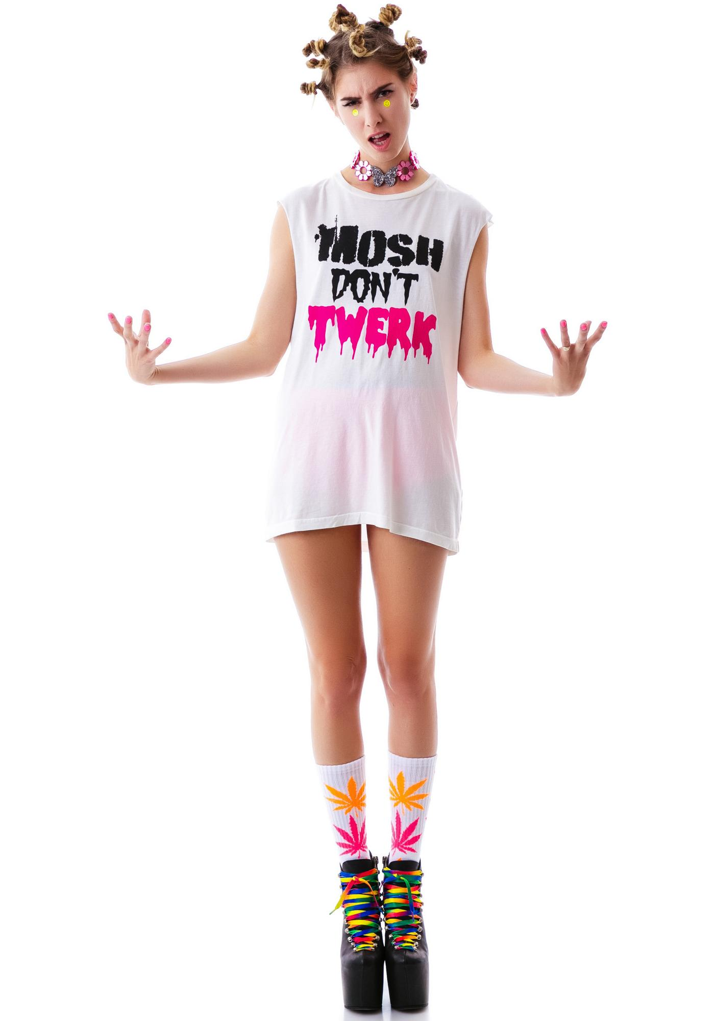 24HRS Mosh Don't Twerk Sleeveless Tee