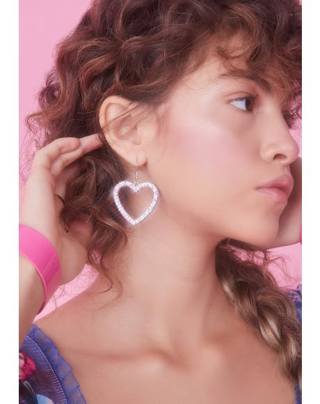 Forbidden Lover Heart Earrings