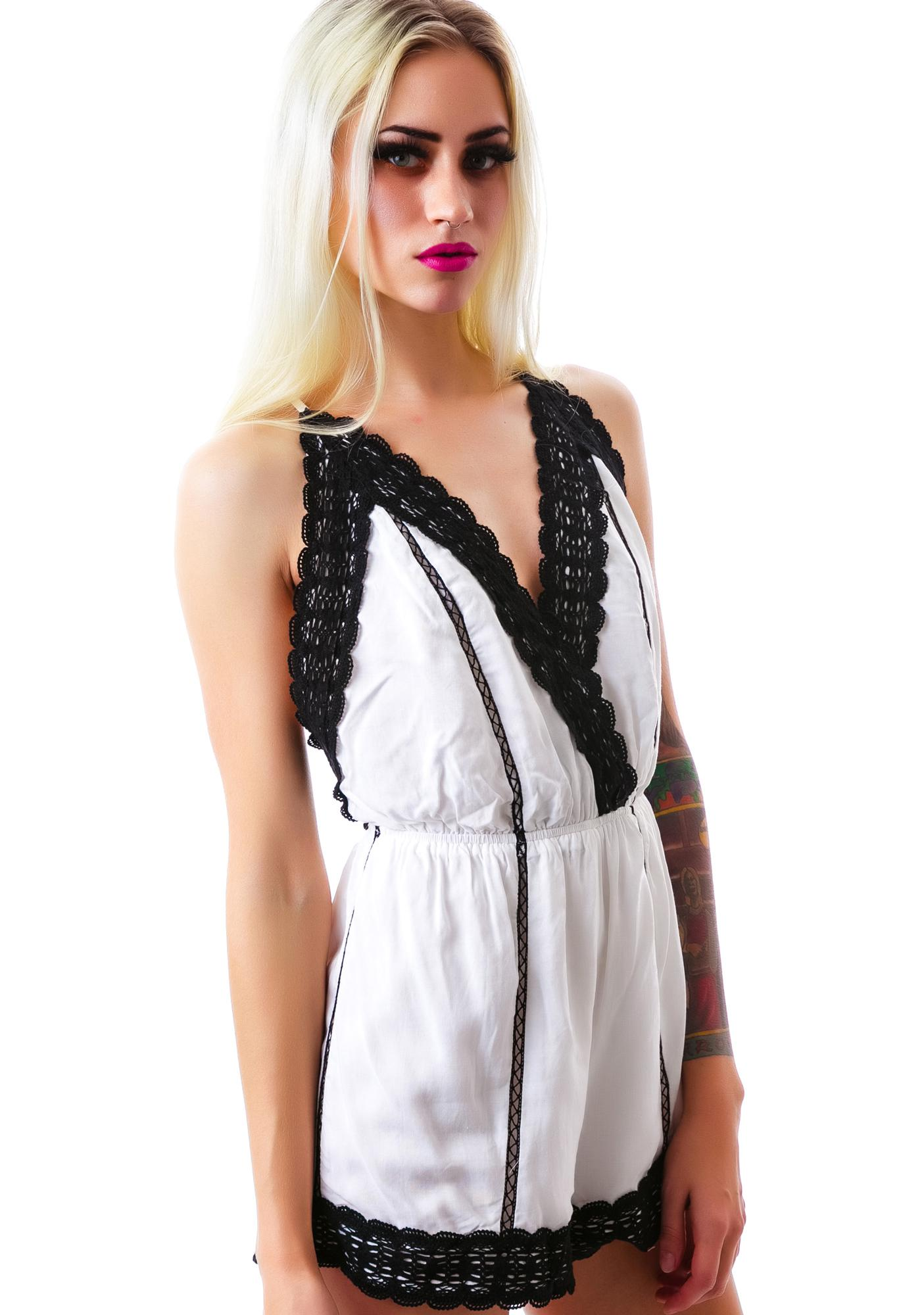 Hippie Hill Crochet Trim Romper