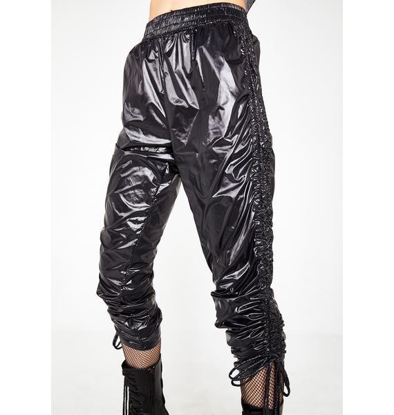 Kiki Riki Midnight Trap House Ruched Trousers