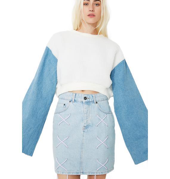 Sky Double Crosser Cropped Sweatshirt