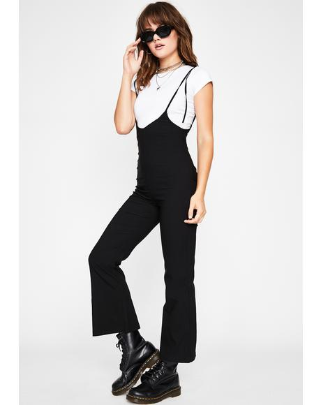 Storm Cloud Chic Suspender Jumpsuit