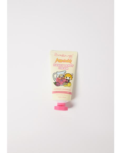 Aggretsuko Raspberry Lemonrage Handy Dandy Cream