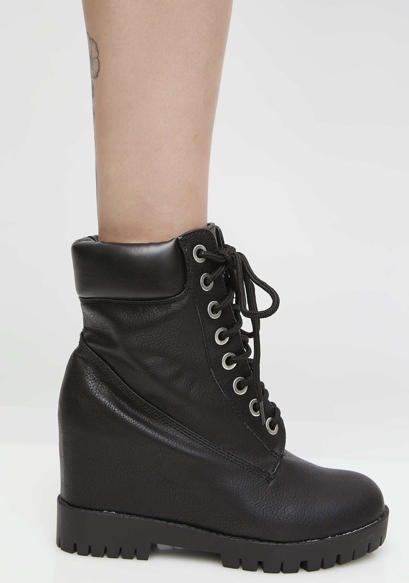 Take The Wheel Wedge Booties