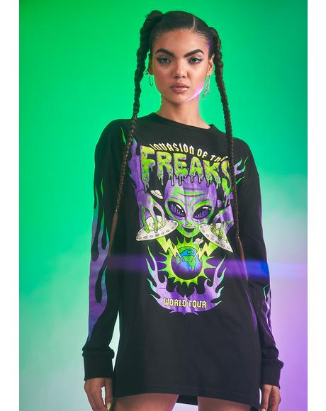 Go All In Graphic Long Sleeve Tee