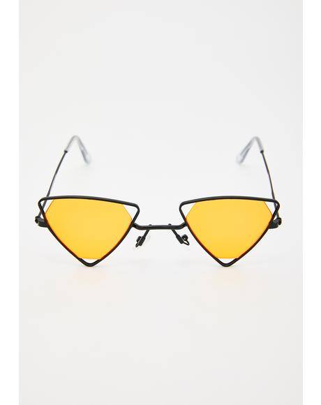 Sights Set Triangle Sunglasses