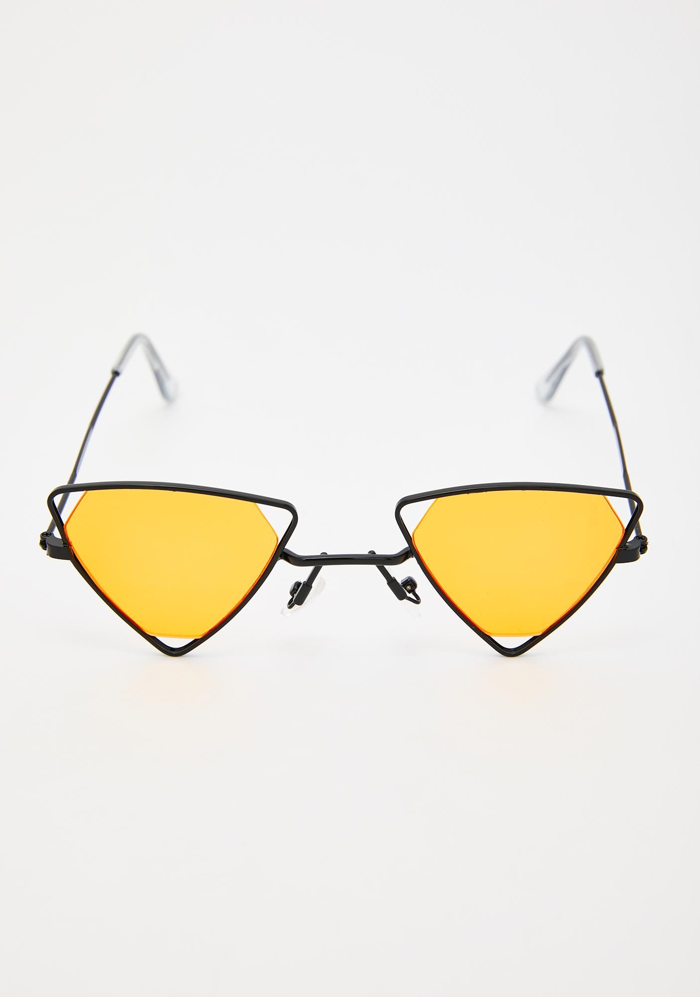 Sights Set Triangle Sunglasses
