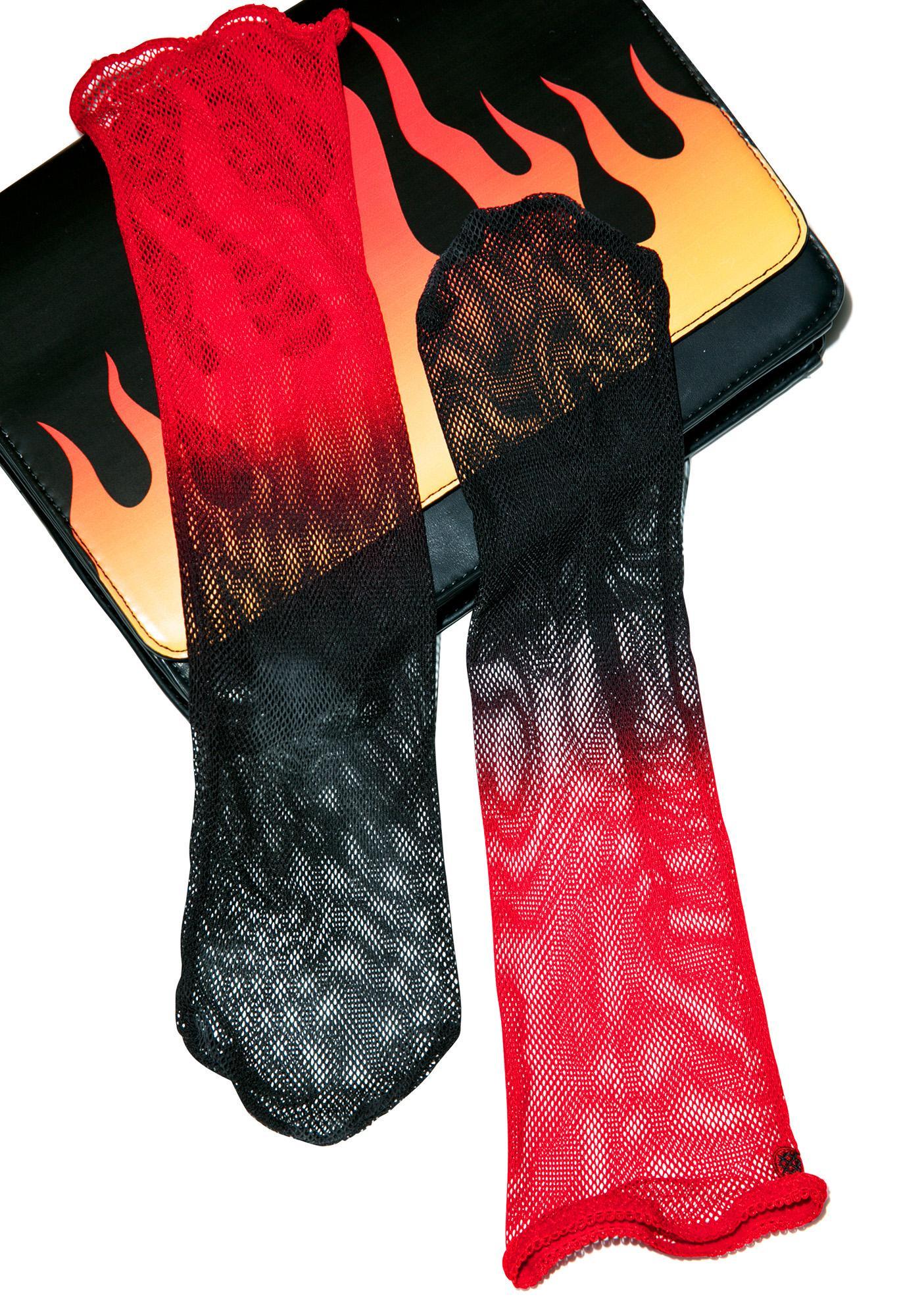 Stance Sangria Mesh Socks