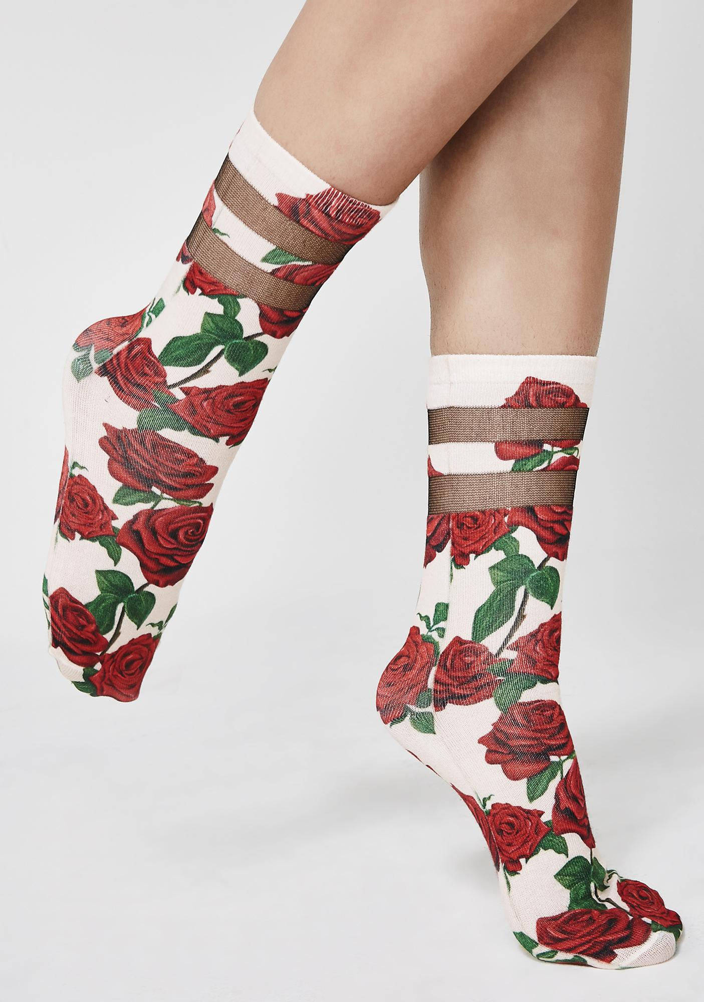 Bouquet Of Roses Socks