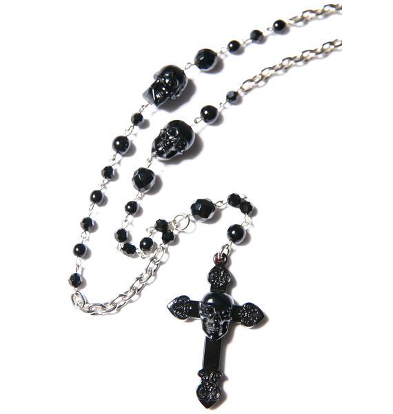 Tarina Tarantino Don't Cross Me Rosary Necklace
