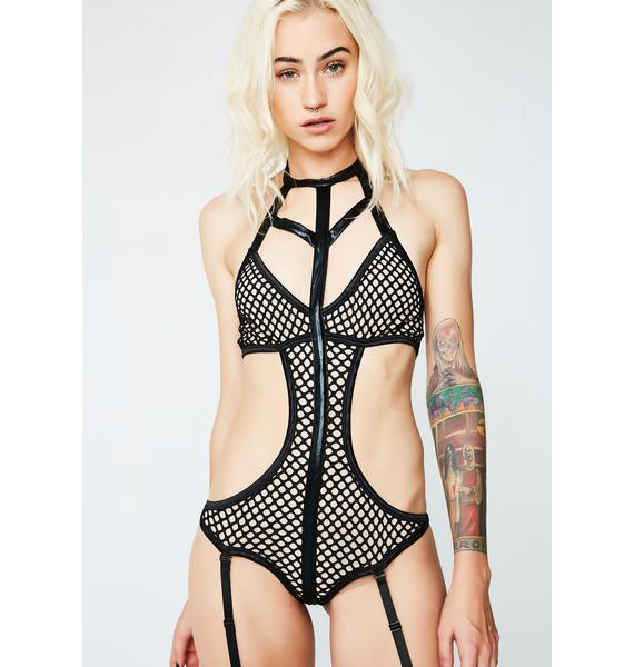 Late Night Thoughts Cut-Out Bodysuit