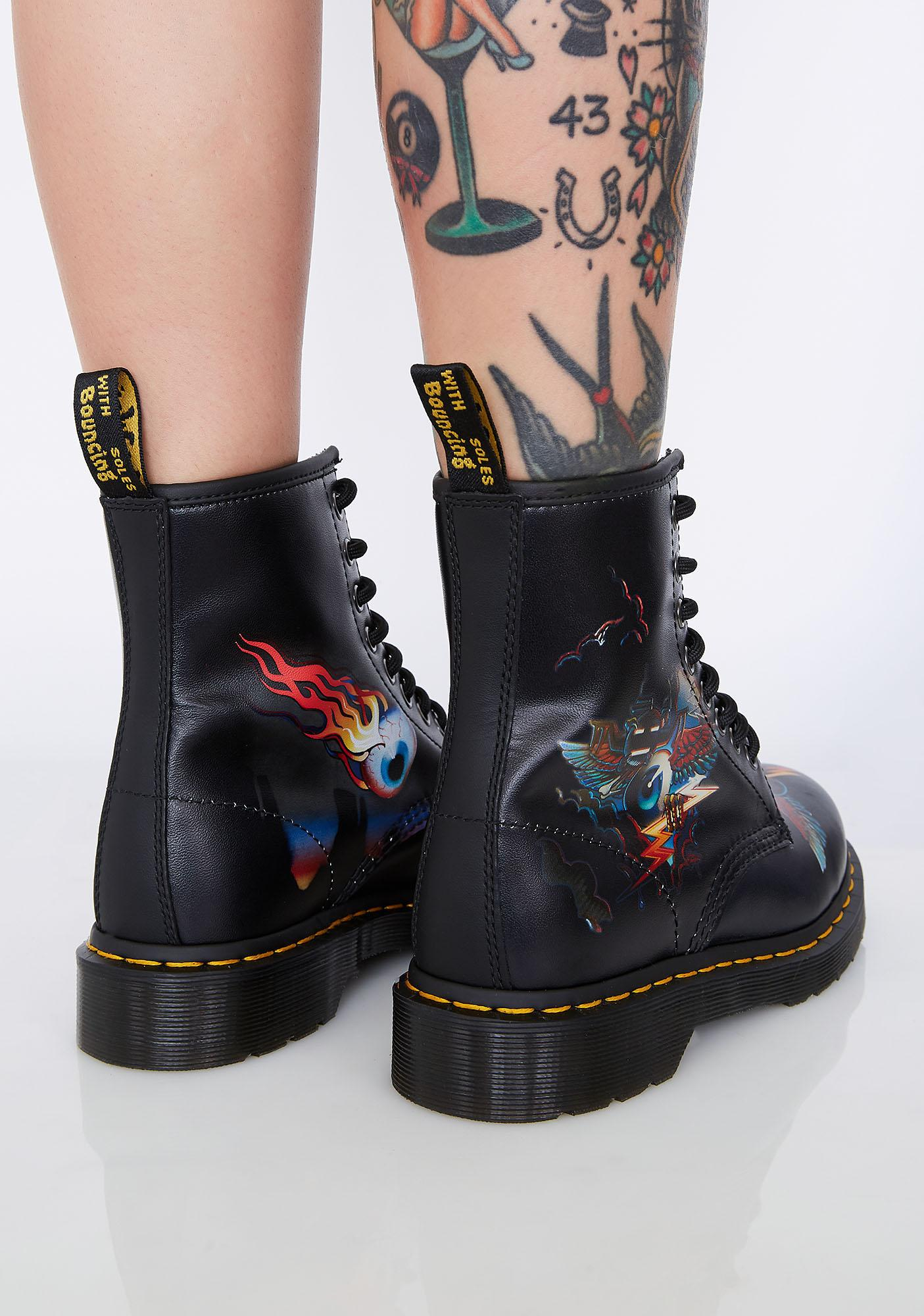 Dr. Martens 1460 Rick Griffin Eye Boots