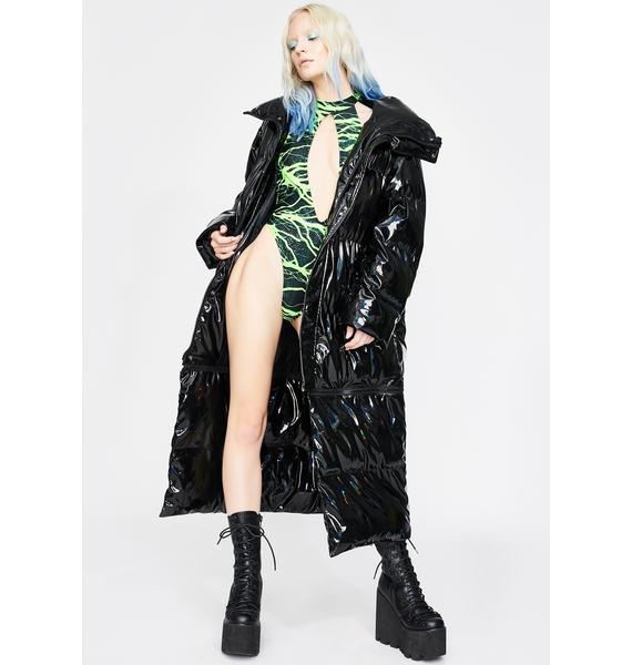 J Valentine Neon Lightning Keyhole Bodysuit